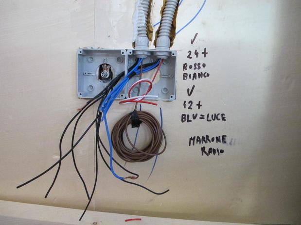 Impianto elettrico for Collegare fili elettrici