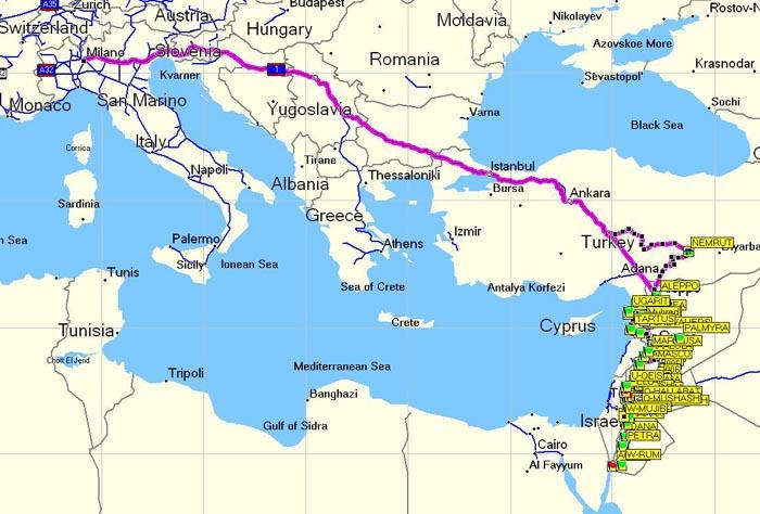 » Blog Archive » Mappa d'insieme da Milano al Mar rosso