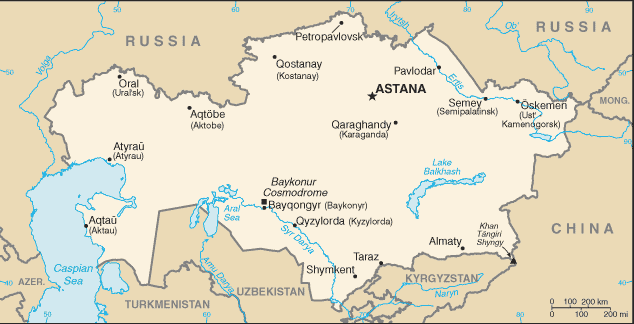 Mappa kazakistan